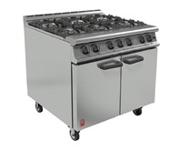 Falcon Dominator 6 Burner Natural Gas Commercial Range Cooker with Castors