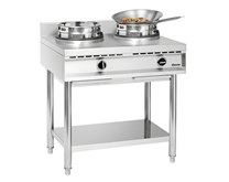 Bartscher 23kW Stainless Steel Commercial 2 Burner Gas Wok LPG or Natural Gas