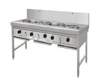 Gastrotek THW3+V2 Stainless Steel Gas 2 Burner Wok Cooker LPG or NG 1052103