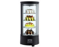 Combisteel Refrigerated Rotating Curved Glass Cake Display Tower