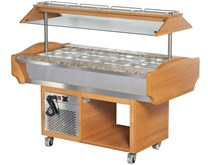 Arisco Refrigerated Salad Bar 4 x GN Size Top - Illuminated Canopy With Sneeze Screen