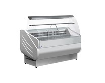 Prodis M150 Milano Curved Glass Deli Serve Over Counter 249  Litre - Made In Italy
