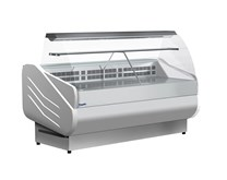 Prodis M250 Milano Curved Glass Deli Serve Over Counter 415  Litre - Made In Italy