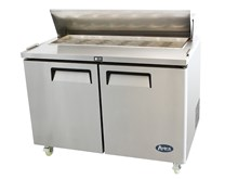 American Style 2 Door Refrigerated Pizza Sandwich Prep Counter