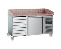 Combisteel Ecofrost Granite Top Pizza Prep Counter Fridge with Dough Drawers