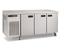Foster Xtra 435 Litre 1/3 Refrigerated 3 Door Prep Counter XR3H with Castors