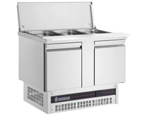 Inomak BSV77 2 Door Refrigerated Gastronorm Saladette 232 Litre With Cutting Board