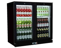 hinged door bottle cooler
