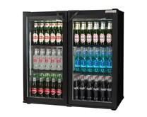 Autonumis Popular Black Double Hinged Door Bottle Cooler with 2 Year Warranty