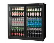 Autonumis Popular Black Double Sliding Door Bottle Cooler with 2 Year Warranty