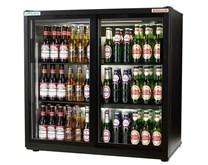 Autonumis EcoChill Black Sliding Double Door Bottle Cooler 2 Year Warranty