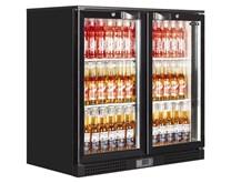 Elstar Black Double Door Bottle Cooler Back Bar Fridge Hinged Doors