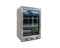 Genfrost Single Door Bottle Cooler Back Bar Cabinet - Grey - Silver Hinged Door