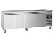 Combisteel Ecofrost 4 Door Refrigerated Prep Counter 700mm Deep With Castors