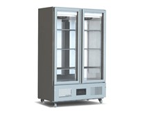 Foster 800 Litre Slimline Upright Glass Double Door Fridge FSL800G
