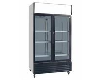 Gastroline Glass Double Door Commercial Fridge With Canopy