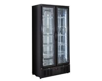 Genfrost Commercial Double Glass Door Display Fridge GBB500