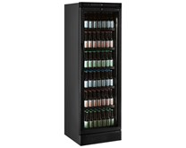 Tefcold Black Commercial Glass Door Display Fridge CEV425