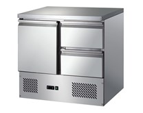 Gastroline S901-2D Refrigerated Prep Counter With 2 x Drawers