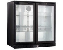 Gastroline 835mm Undercounter Double Door Bottle Cooler Bar Fridge with Hinges