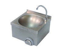 400mm Knee Operated Stainless Steel Handwash Sink With Tap