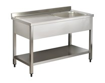 Italinox Premium 1200mm Single Bowl Stainless Steel Sink with Left Hand Drainer