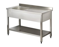 Italinox Premium 1200mm Single Bowl Stainless Steel Sink with Right Hand Drainer