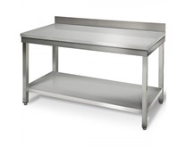 Italinox 1500mm Wide Stainless Steel Wall Table With Splashback