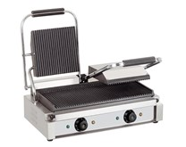 Quattro Twin Contact Panini Grill Ribbed Top and Bottom Plates