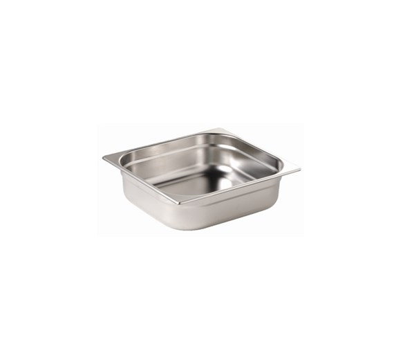 Quattro 1/2 Gastronorm Pan 100mm Deep Stainless Steel