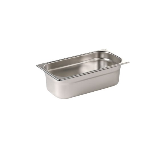 Quattro 1/3 Stainless Steel Gastronorm Pan 100mm Deep