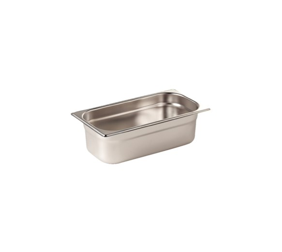 6 PACK - Quattro 1/4 Gastronorm Pan 100mm Deep Stainless Steel