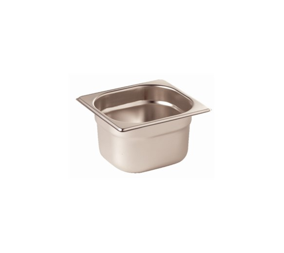 Quattro 1/6 Gastronorm Pan 100mm Deep Stainless Steel