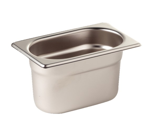 Quattro 1/9 Gastronorm Pan 150mm Deep Stainless Steel