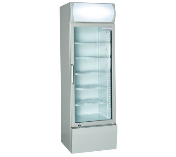 S-Pro 360ltr Commercial Glass Door Fridge With Canopy - 13cu ft