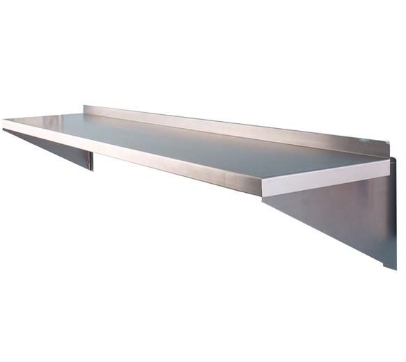600mm Wide Stainless Steel Wall Shelf