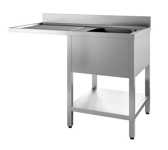 Italinox Premium 1200mm Single Bowl Dishwasher Sink. Left Hand Drainer