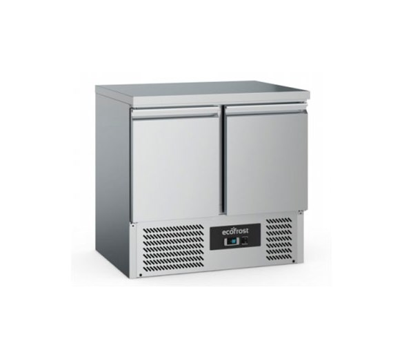 Combisteel EcoFrost 2 Door Refrigerated Prep Counter With Solid Top S901