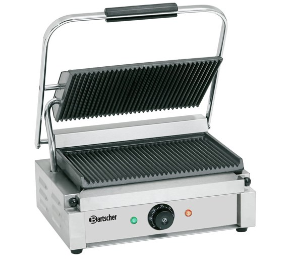 Bartscher Contact Panini Grill Ribbed Top & Bottom Plates
