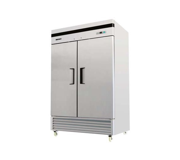 American Style 46 cu ft Stainless Steel Double Door Freezer