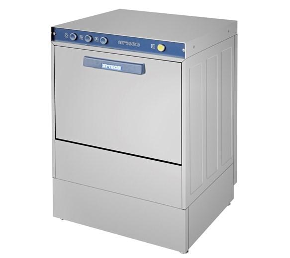Arisco 500mm Basket Dishwasher and Glasswasher With Drain Pump. 13 amp plug