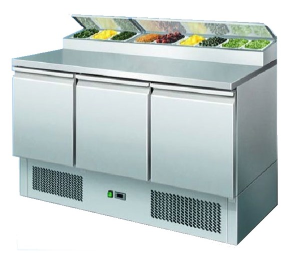 Ice-A-Cool ICE3853GR PS300 Refrigerated Prep Counter Inc 7 x 1/6 GN Pans