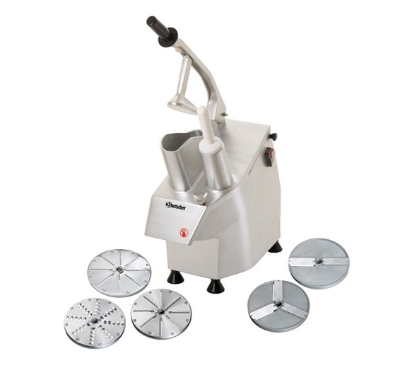 Bartscher Commercial Veg Prep Machine With 5 FREE Disks Included