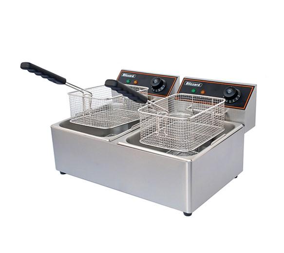 Blizzard 5000W Double Tank Electric Fryer 2x 6L