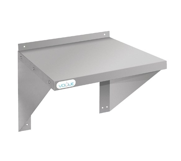 460mm Deep Stainless Steel Microwave Wall Shelf