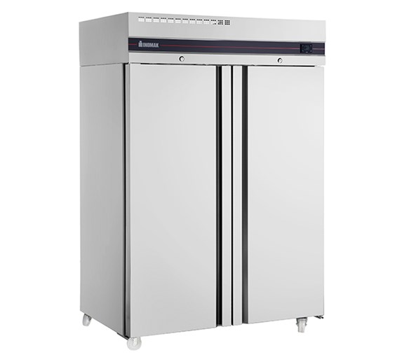 Inomak CES2144SL Heavy Duty Double 1150 Litre Door Stainless Steel Fridge