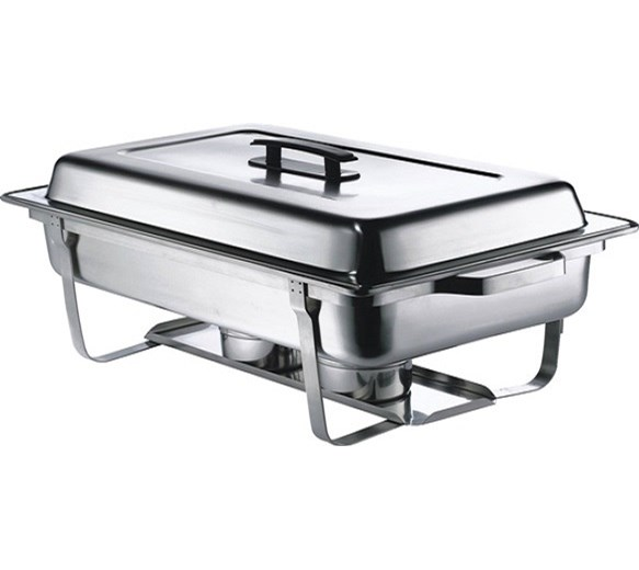 Quattro Chafing Dish 9 Litre Capacity 1-1 GN Size With Stay Cool Black Handle