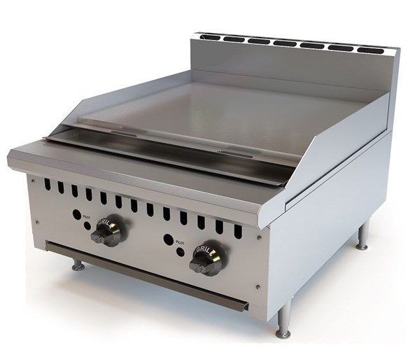 Chef King Imperial 24 inch - 615mm Gas Griddle - 2 Burner Heavy Duty Natural Gas