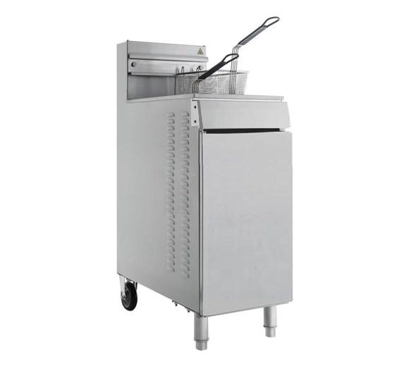 Quattro IF40 High Power Gas Fryer 125000 btu Twin Basket 22 Litre