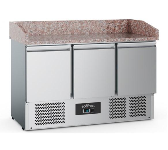 Combisteel Ecofrost Granite Top Pizza Prep 3 Door Counter
